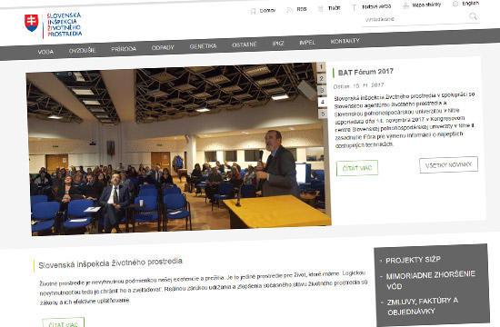 Slovenská inšpekcia životného prostredia - nová webstránka